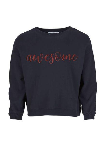 By-Bar Awesome sweater Dark Navy Katoen Elastan