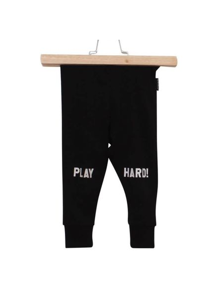 Lucky No7 7 legging Play Hard Black Katoen