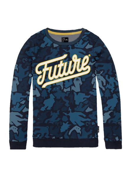 The future is ours Sweater Naval Multi Katoen