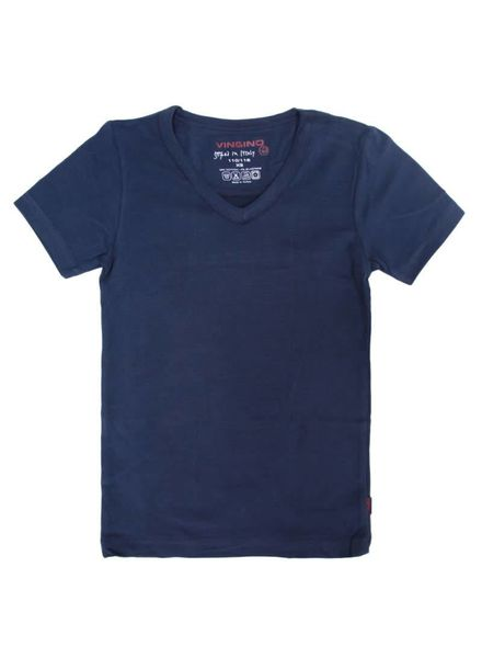 Vingino shirt V-neck boy navy Katoen Elastan