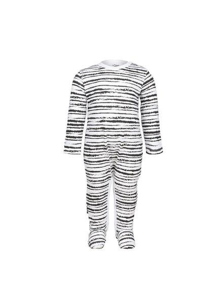 nOeser Jumpsuit Riva Stripe White Katoen Elastan
