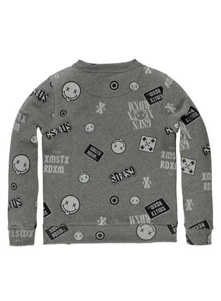 Gsus Sweater Leeon grey Katoen