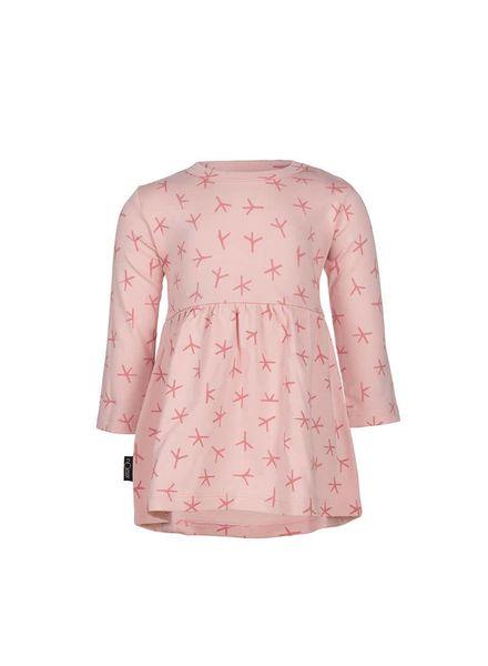 nOeser nOeser Olivia Dress Bird Foot Pink Katoen Elastan