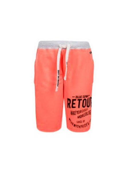 Retour Jeans Retour Jeans Jogging Short Maxim Neon Oranje Katoen Elastan
