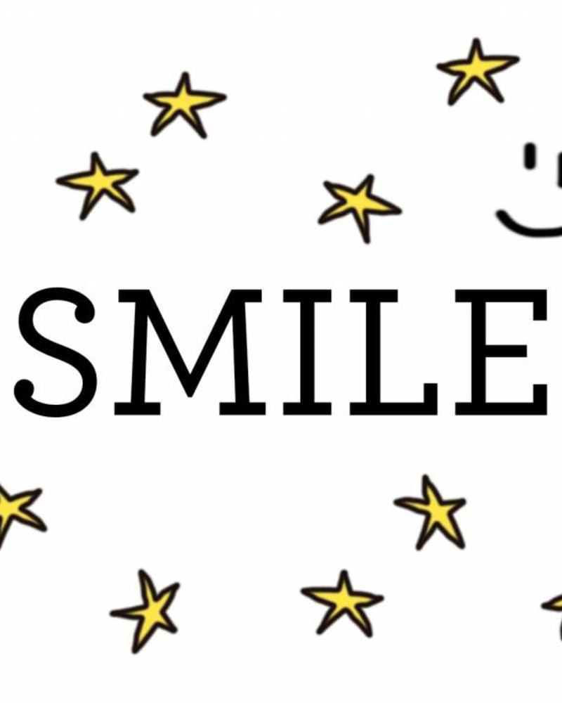 Dwarz wenskaart  Smile