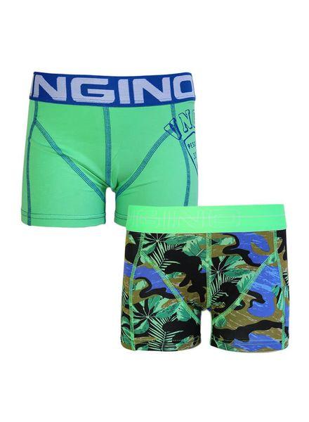 Vingino 2-pack shorts Green Palm Print Katoen Elastan