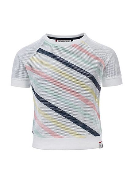 Looxs Revolution Sporty Mesh T-shirt Off white Katoen