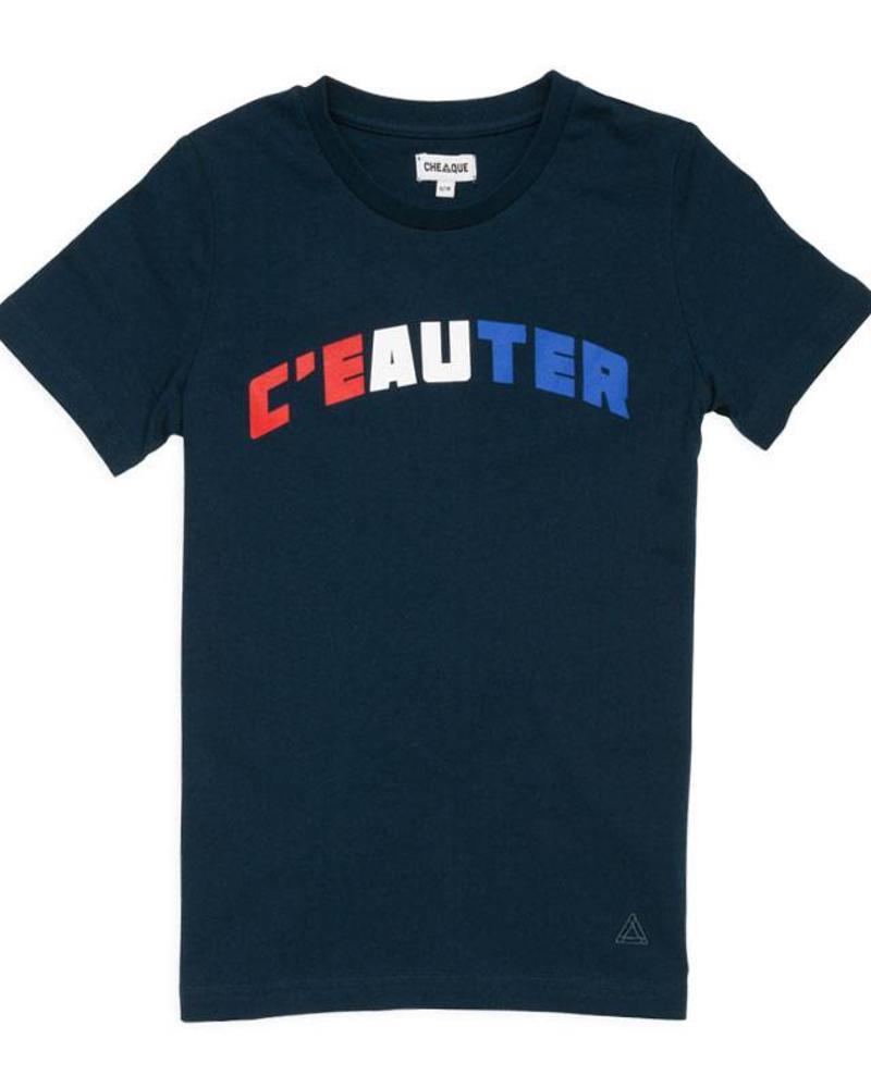 Cheaque T-shirt C'eauter Navy Katoen