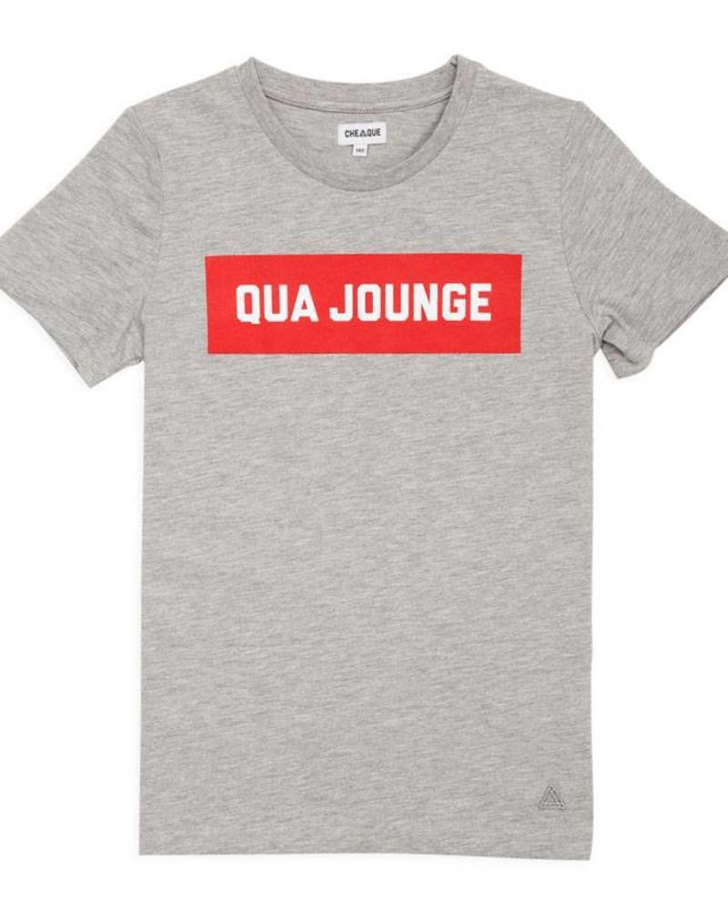 Cheaque Cheaque T-shirt Qua Jounge Grey Katoen