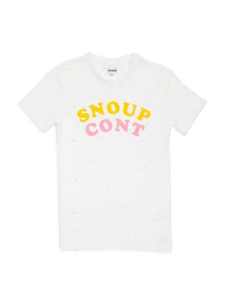 Cheaque Cheaque T-shirt Snoupcont White Katoen