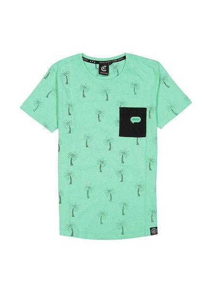 Crush Denim T-shirt Tygo Green Katoen