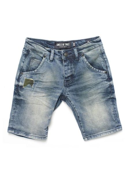 Circle of Trust Short Keith Rustic Blue Katoen