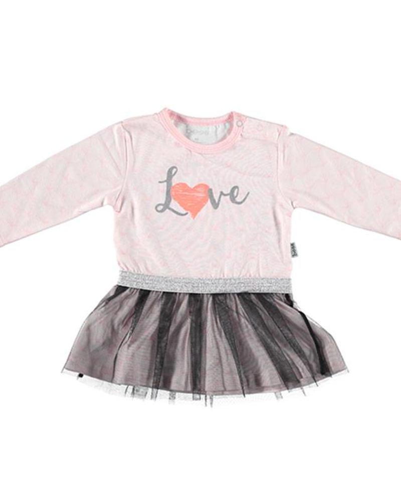 b.e.s.s. Bess Dress Love 1837-007 Katoen