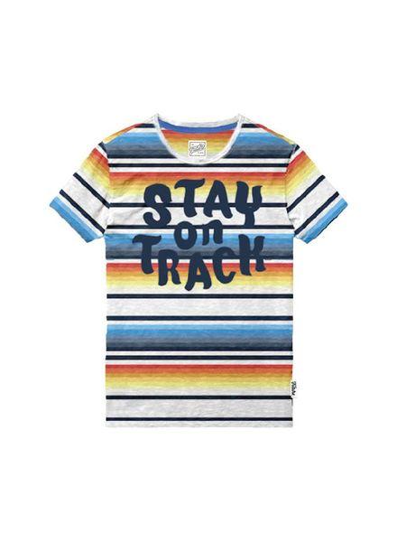 T-shirt Stay on Track Multi Katoen