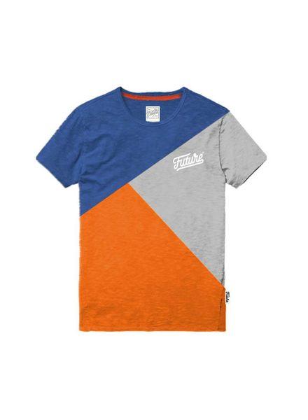 The future is ours Colour Block T-shirt Multi Katoen