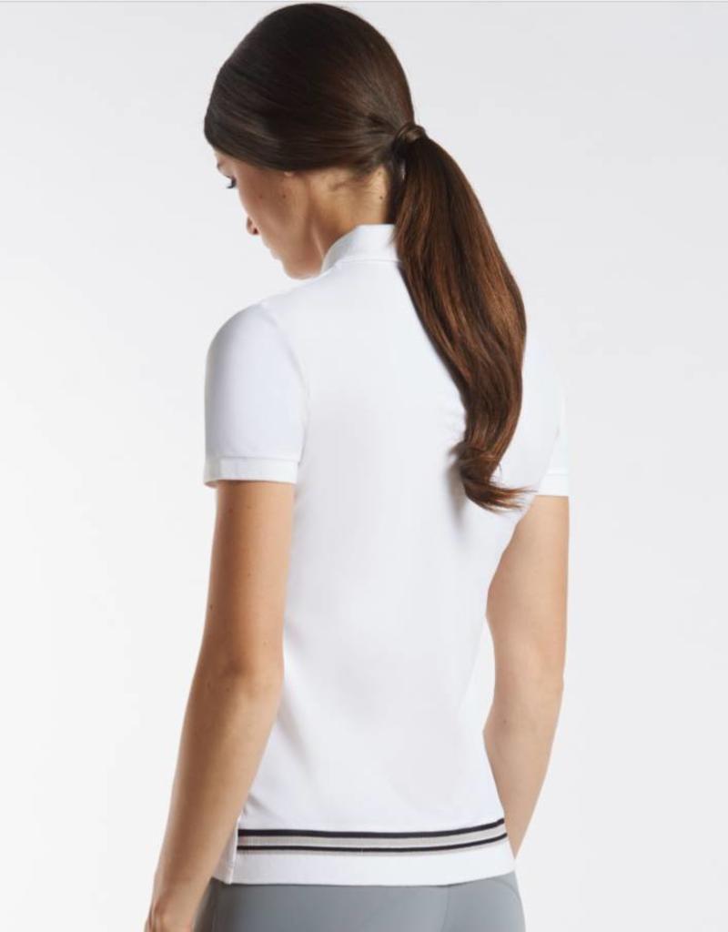 Cavalleria Toscana Poloshirt CT Rib Stripe Wit