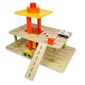Mentari Houten speelgoed garage met lift, Mentari