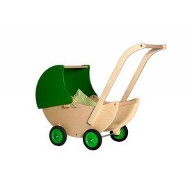 Van Dijk Toys Houten Poppenwagen Groen, van Dijk Toys