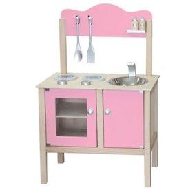 Simply For Kids Houten Keukentje Lichtroze, Simply for Kids