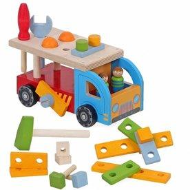 Playwood Houten vrachtwagen / Gereedschap auto Playwood