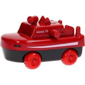 AquaPlay 291 - Brandweerboot/Brandweerwagen met wieltjes