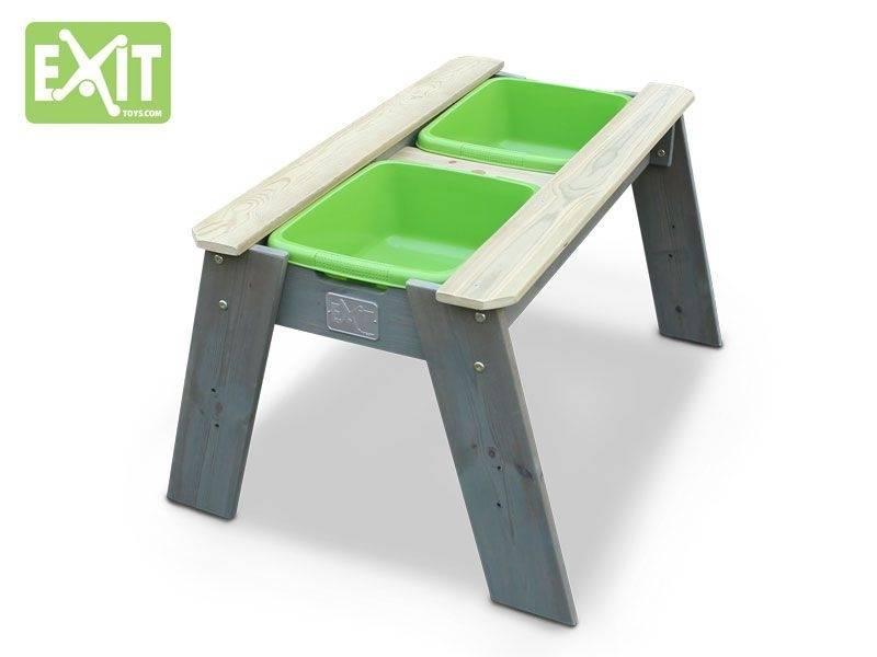 Zand en watertafel, Exit