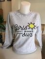 Bali Beach sweaters  ADULT Girls just wanna have sun
