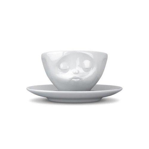 Tassen - kop en schotel - kussend
