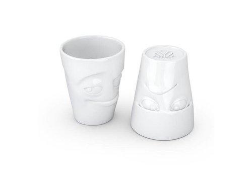 Tassen Tassen - mokken set - chagrijnig & ondeugend