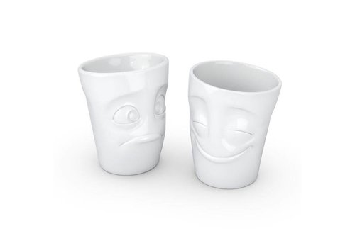 Tassen Tassen - mokken set - gelukkig & perplex