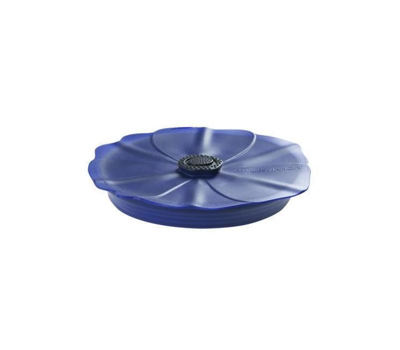 Charles Viancin - siliconen deksel - poppy blue night (20 cm.)