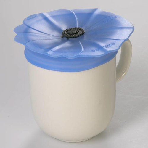 Charles Viancin - drink cover - poppy blue palatinate