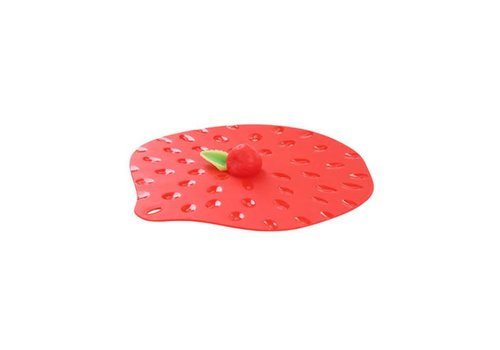 Charles Viancin Charles Viancin - siliconen deksel - strawberry (23 cm.)