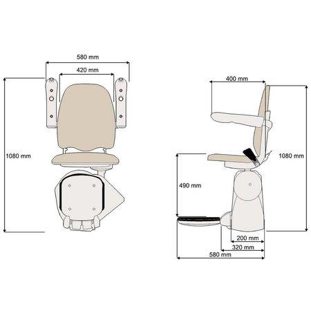 MediTek rechte traplift D120