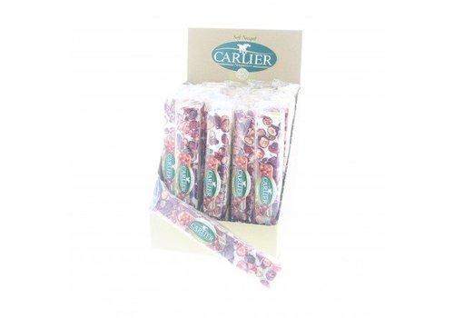 Carlier display nougat reep cranberry 100g 25st