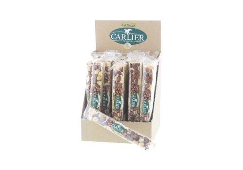 Carlier display nougat reep Cappuccino 100g 25st