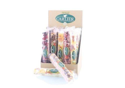 Carlier display nougat reep mix fruit 100g 25st
