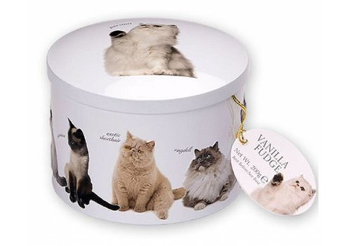 Gardiners Cat round tin fudge 200g 12st