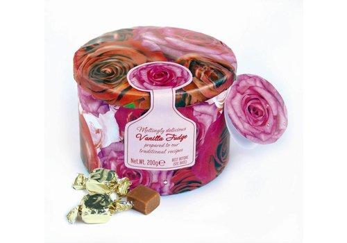 Gardiners Roses tin fudge 200g 12st
