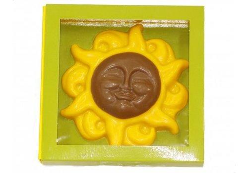 Zonnebloemen verp.doos 13x13cm 10st