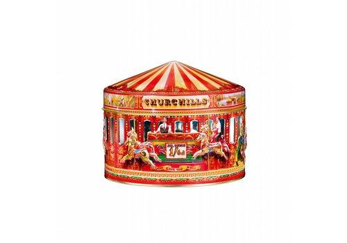 Churchill's Carousel Tin 400g Vanilla Fudge & Toffee 12bl