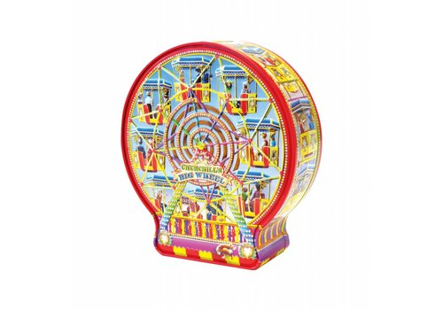 Churchill's Big Wheel tin 300g Salted Caramel fudge 12bl