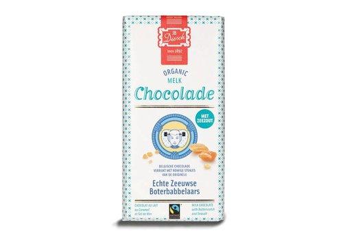 Diesch reep melk bio babbelaars zeezout 100g 12st