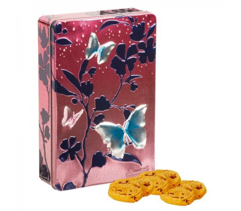 Butterflies Pink Biscuits tin 300g 12bl.