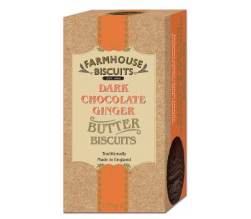 Biscuits Luxery Dark Chocolate Ginger 150g 12st