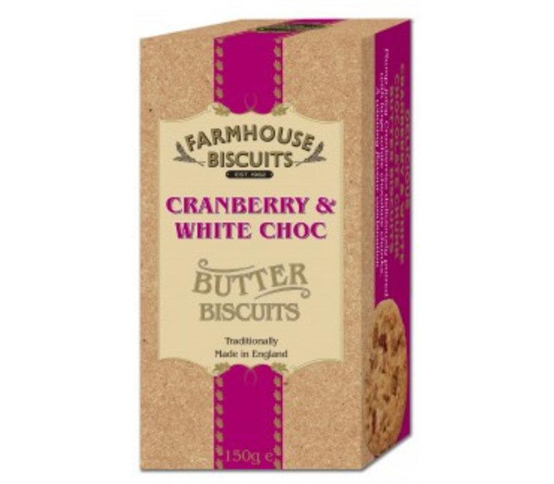 Cranberry & White Choc.biscuits 150g 12st