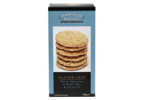 White Chocolate & Brazil Nut biscuits 150g 12st