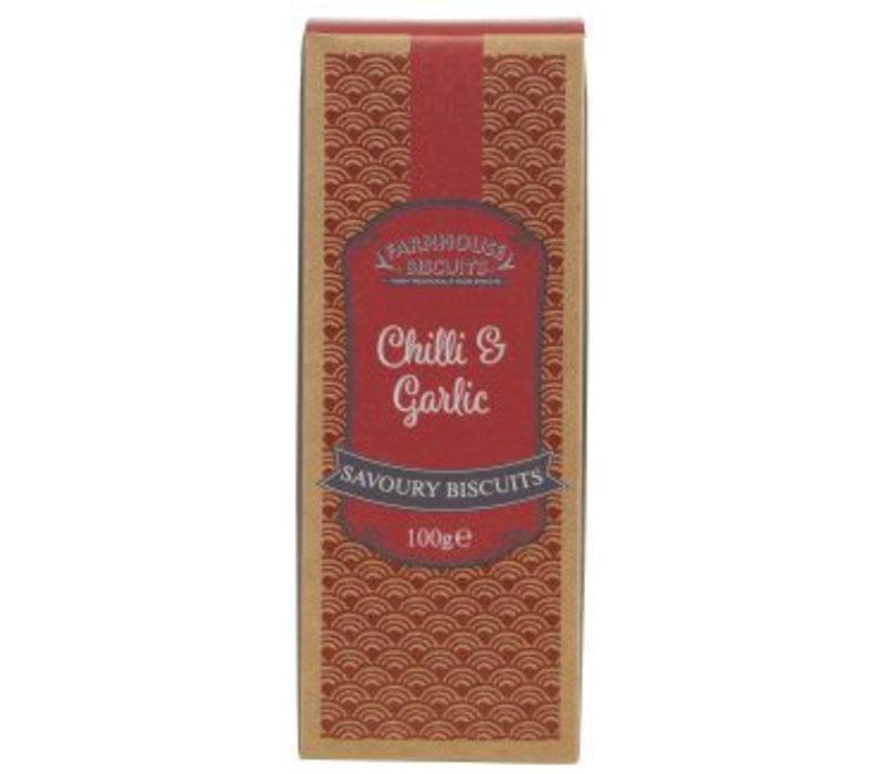 Chilli & Garlic savoury biscuits 100g 12st