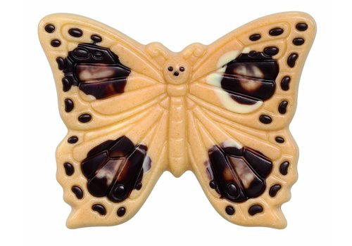 Vlinder deco herfst wit 60g 8cm 12st