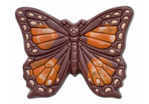 Vlinder deco melk herfst 60g 8cm 12st
